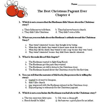 The Best Christmas Pageant Ever Comprehension book unit