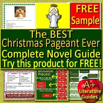 The Best Christmas Pageant Ever Novel Study - FREE Sample! | TpT