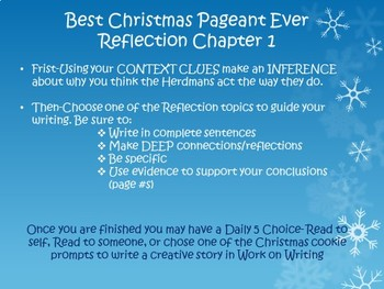 The Best Christmas Pageant Ever Journal Reflections