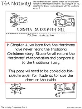The Best Christmas Pageant Ever Lapbook for Novel Study