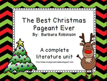 The Best Christmas Pageant Ever Literacy Unit