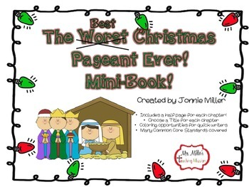 The Best Christmas Pageant Ever Mini-Book!