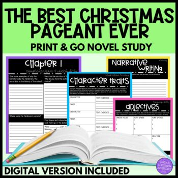 The Best Christmas Pageant Ever Novel Study by Curious Classroom Adventures