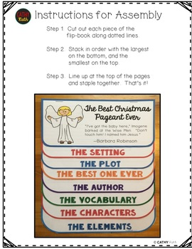 The Best Christmas Pageant Ever, Novel Study, Flip Book Project, Questions