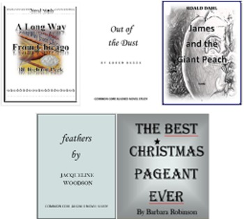 The Best Christmas Pageant Ever Novel Study PLUS!! 5 Novel Studies for $9.99!