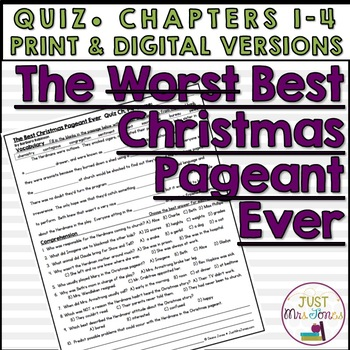 The Best Christmas Pageant Ever Quiz