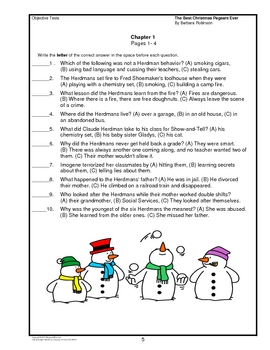 the best christmas pageant ever chapter summaries and objective tests - The Best Christmas Pageant Ever Summary