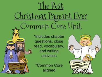 The Best Christmas Pageant Ever Unit-Common Core Aligned!