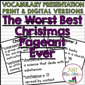 The Best Christmas Pageant Ever Vocabulary Presentation