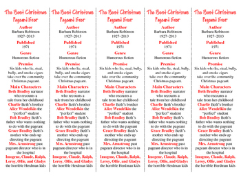 Best Christmas Pageant Ever ed. of Bookmarks Plus—Fun Freebie/Handy Reading Aid!