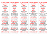 Best Christmas Pageant Ever edition of Bookmarks Plus—A Very Handy Reading Aid!