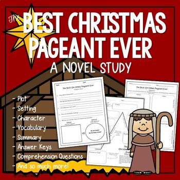 The Best Christmas Pageant Ever Novel Study (Worst Christmas Pageant Ever)