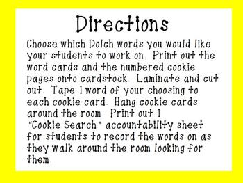 The Best Ever Dolch Sight Word Read-the-Room Cookies