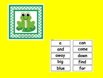 The Best Ever Dolch Sight Word Read-the-Room Frogs