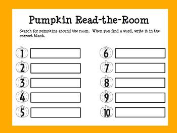 The Best Ever Dolch Sight Word Read-the-Room Pumpkins
