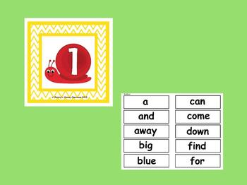 The Best Ever Dolch Sight Word Read-the-Room Snails