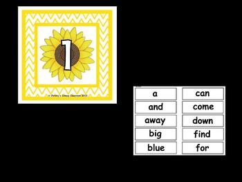 The Best Ever Dolch Sight Word Read-the-Room Sunflowers