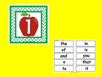 The Best Ever Fry Sight Word Read-the-Room Vol. 1--Apples