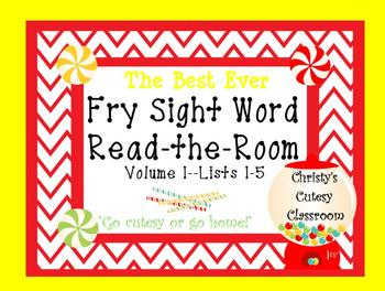 The Best Ever Fry Sight Word Read-the-Room Vol. 1 Candy