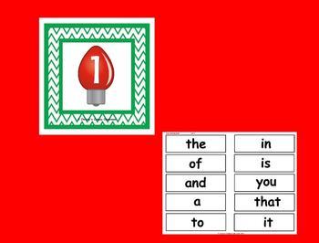 The Best Ever Fry Sight Word Read-the-Room Vol. 1 Christmas Lights
