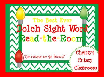 The Best Ever Fry Sight Word Read-the-Room Vol. 1 Christma