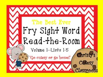 The Best Ever Fry Sight Word Read-the-Room Vol. 1 Cookies