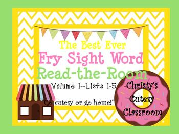 The Best Ever Fry Sight Word Read-the-Room Vol. 1 Donuts