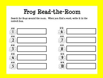 The Best Ever Fry Sight Word Read-the-Room Vol. 1 Frogs