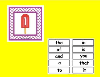 The Best Ever Fry Sight Word Read-the-Room Vol. 1--Popsicles