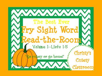 The Best Ever Fry Sight Word Read-the-Room Vol. 1 Pumpkins