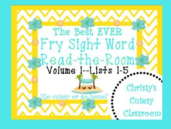 The Best Ever Fry Sight Word Read-the-Room Vol. 1--Sand Dollars