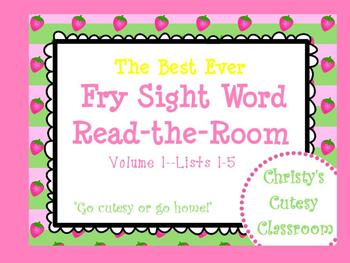 The Best Ever Fry Sight Word Read-the-Room Vol. 1 Strawberries