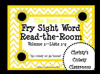 The Best Ever Fry Sight Word Read-the-Room Vol. 1 Sunflowers