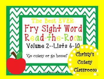 The Best Ever Fry Sight Word Read-the-Room Vol. 2 Apples