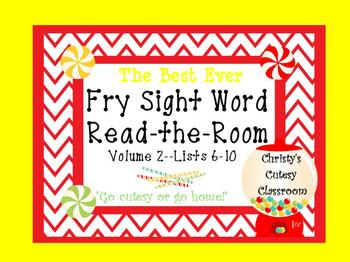 The Best Ever Fry Sight Word Read-the-Room Vol. 2 Candy