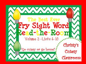 The Best Ever Fry Sight Word Read-the-Room Vol. 2 Christmas Lights