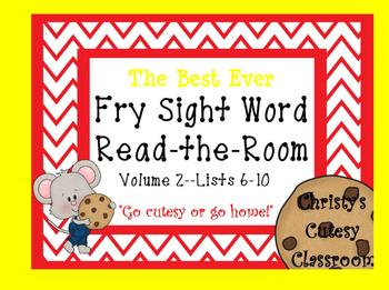 The Best Ever Fry Sight Word Read-the-Room Vol. 2 Cookies
