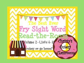 The Best Ever Fry Sight Word Read-the-Room Vol. 2 Donuts