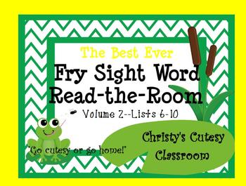 The Best Ever Fry Sight Word Read-the-Room Vol. 2 Frogs