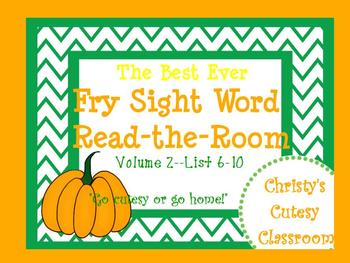 The Best Ever Fry Sight Word Read-the-Room Vol. 2 Pumpkins