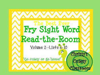 The Best Ever Fry Sight Word Read-the-Room Vol. 2 Snails