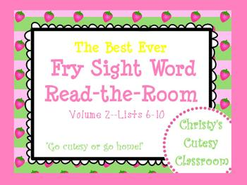 The Best Ever Fry Sight Word Read-the-Room Vol. 2 Strawberries