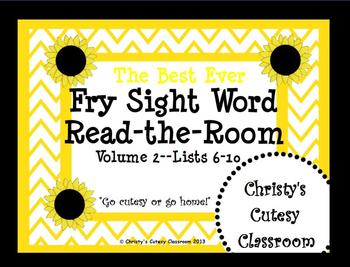 The Best Ever Fry Sight Word Read-the-Room Vol. 2 Sunflowers