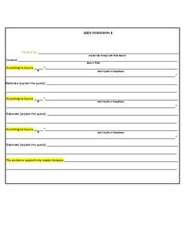 The Best FSA Informative/Explanatory Graphic Organizer