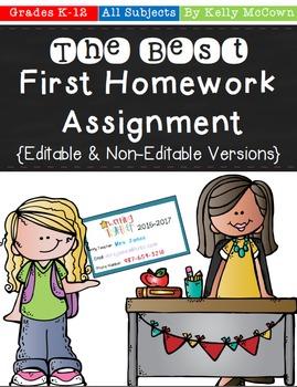 The Best First Homework Assignment