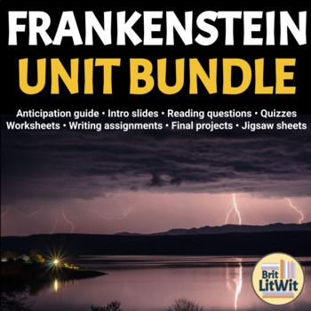 Frankenstein teaching resources teachers pay teachers frankenstein unit bundle mary shelley sciox Image collections