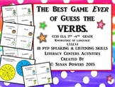 The Best Game of Guess the Verbs Drama and Literacy Activities