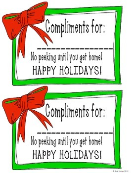 The Best Gifts: Class Compliments for the Holiday Season (FREEBIE!)