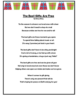 The Best Gifts are Free Poem