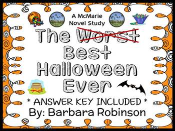 The Best Halloween Ever (Barbara Robinson) Novel Study / Reading Comprehension